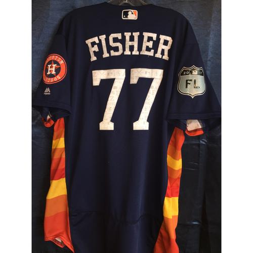 Photo of #77 Derek Fisher Team-Issued 2017 Spring Training Jersey