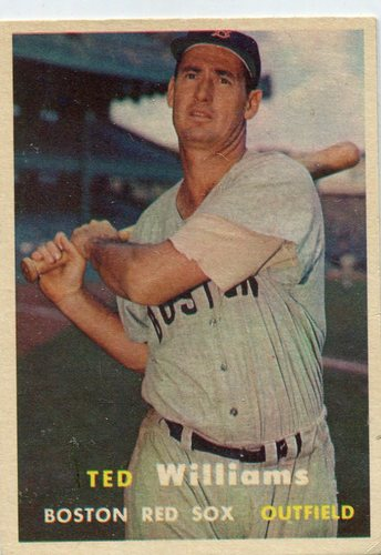 Photo of 1957 Topps #1 Ted Williams -- Hall of Famer