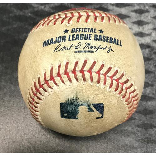 Photo of Game-Used Baseball - Paul Goldschmidt Single & Chris Owings Foul vs. Clayton Richard