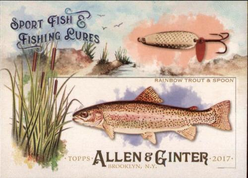 Photo of 2017 Topps Allen and Ginter Sport Fish and Fishing Lures #SFL8 Rainbow Trout