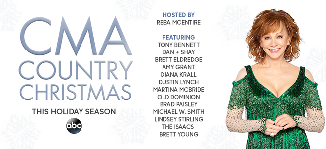 """""""CMA COUNTRY CHRISTMAS"""" TAPING HOSTED BY REBA + AUTOGRAPHED GUITAR - PAC..."""