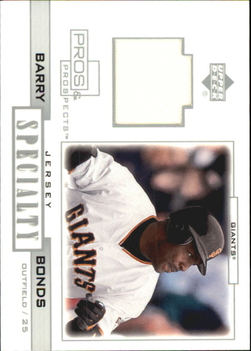 Photo of 2001 Upper Deck Pros and Prospects Specialty Game Jersey #SBB Barry Bonds