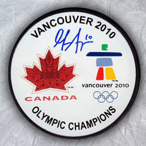 GILLIAN APPS 2010 Olympic Games Autographed Gold Medal Puck