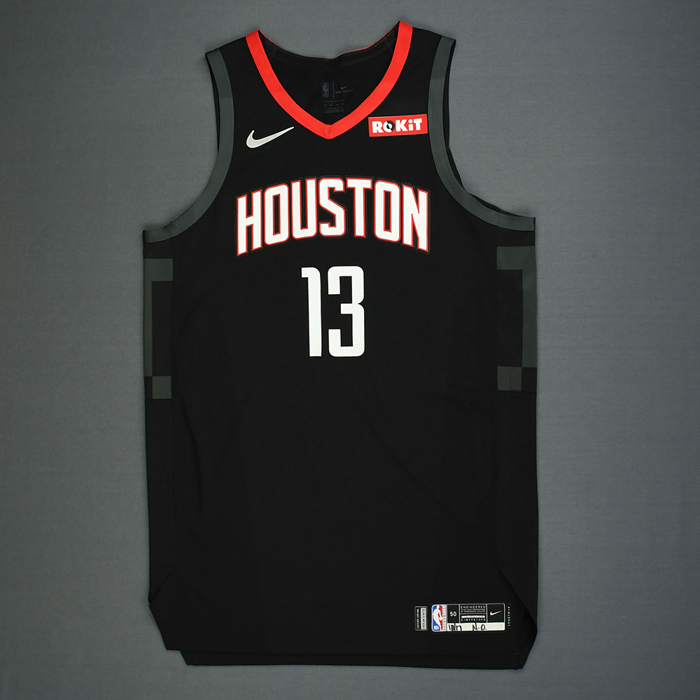 James Harden - Houston Rockets - Kia NBA Tip-Off 2018 - Game-Worn Statement Edition Jersey - Double-Double