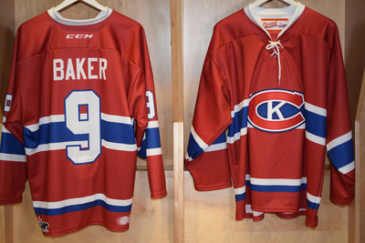#9 Dawson Baker Game Issued Kingston Canadians Jersey