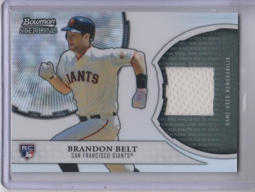 Photo of 2011 Bowman Sterling Rookie Relics #BB Brandon Belt