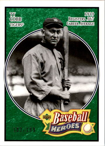 Photo of 2005 Upper Deck Baseball Heroes Emerald #197 Ty Cobb Tigers