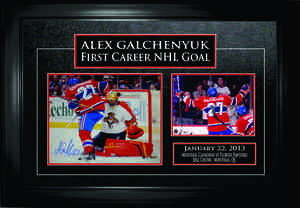 Alex Galchenyuk - Signed & Framed First NHL Goal Photo Collection - Montreal Canadiens