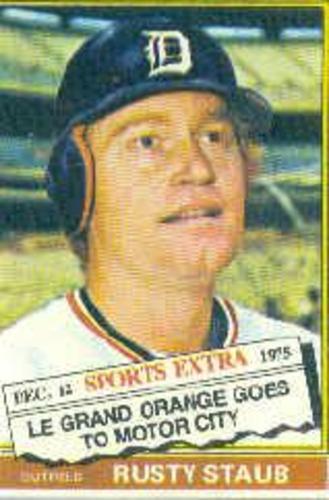 Photo of 1976 Topps Traded #120T Rusty Staub