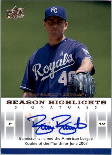 Photo of 2008 Upper Deck Season Highlights Signatures #BB Brian Bannister