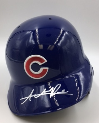 Photo of Addison Russell Autographed Cubs Batting Helmet