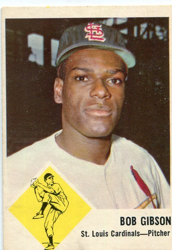 Photo of 1963 Fleer #61 Bob Gibson -- Hall of Famer