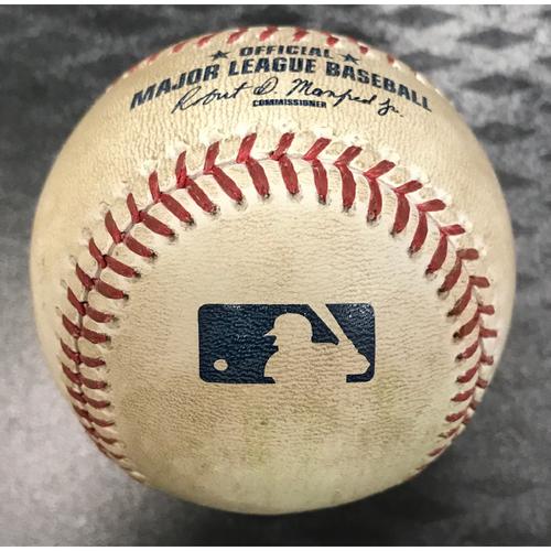 Photo of Game-Used Baseball - Chris Owings Double vs. Clayton Richard