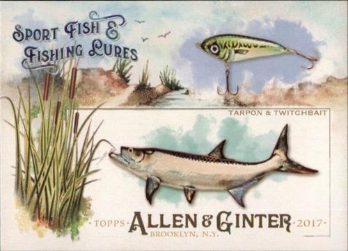 Photo of 2017 Topps Allen and Ginter Sport Fish and Fishing Lures #SFL9 Tarpon