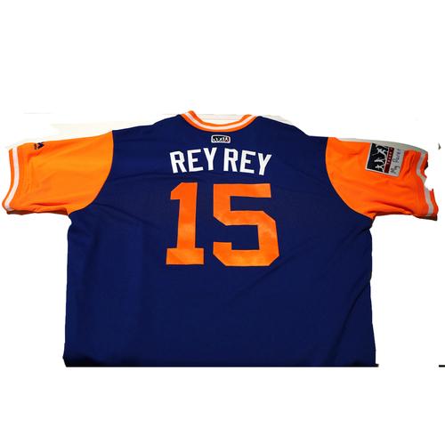 "Photo of Matt ""Rey Rey"" Reynolds New York Mets Game-Used Players Weekend Jersey"