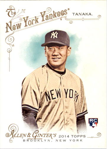 Photo of 2014 Topps Allen and Ginter #235 Masahiro Tanaka Rookie Card -- Yankees post-season