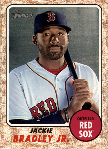Photo of 2017 Topps Heritage #462 Jackie Bradley Jr.  -- Red Sox post-season