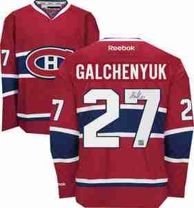 Alex Galchenyuk - Signed Montreal Canadiens Dark Replica Jersey