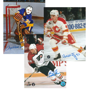 2016 Hockey Hall of Fame Inductees 8X10 Photo Lot - Eric Lindros, Sergei Makarov & Rogie Vachon