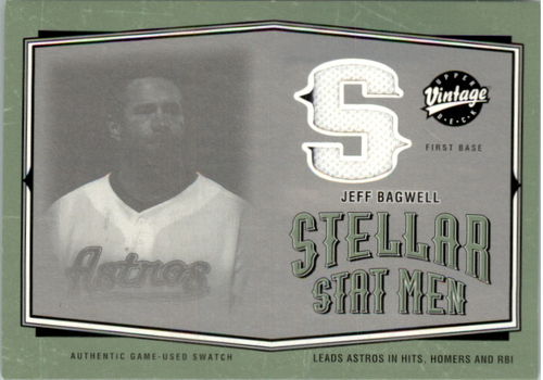 Photo of 2004 Upper Deck Vintage Stellar Stat Men Jerseys #25 Jeff Bagwell