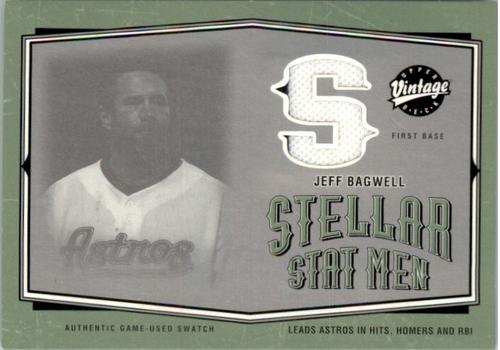 Photo of 2004 Upper Deck Vintage Stellar Stat Men Jerseys #25 Jeff Bagwell