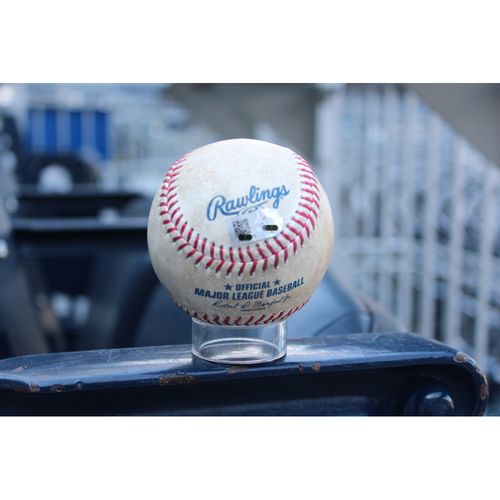 Photo of Game-Used Baseball: Mike Moustakas 26th Home Run of 2017, 107th Career Home Run, 707th Career Hit, 354th RBI (CWS at KC - 7/21/17)