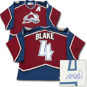 2014 HOF Inductee - Rob Blake Autographed Colorado Avalanche Jersey