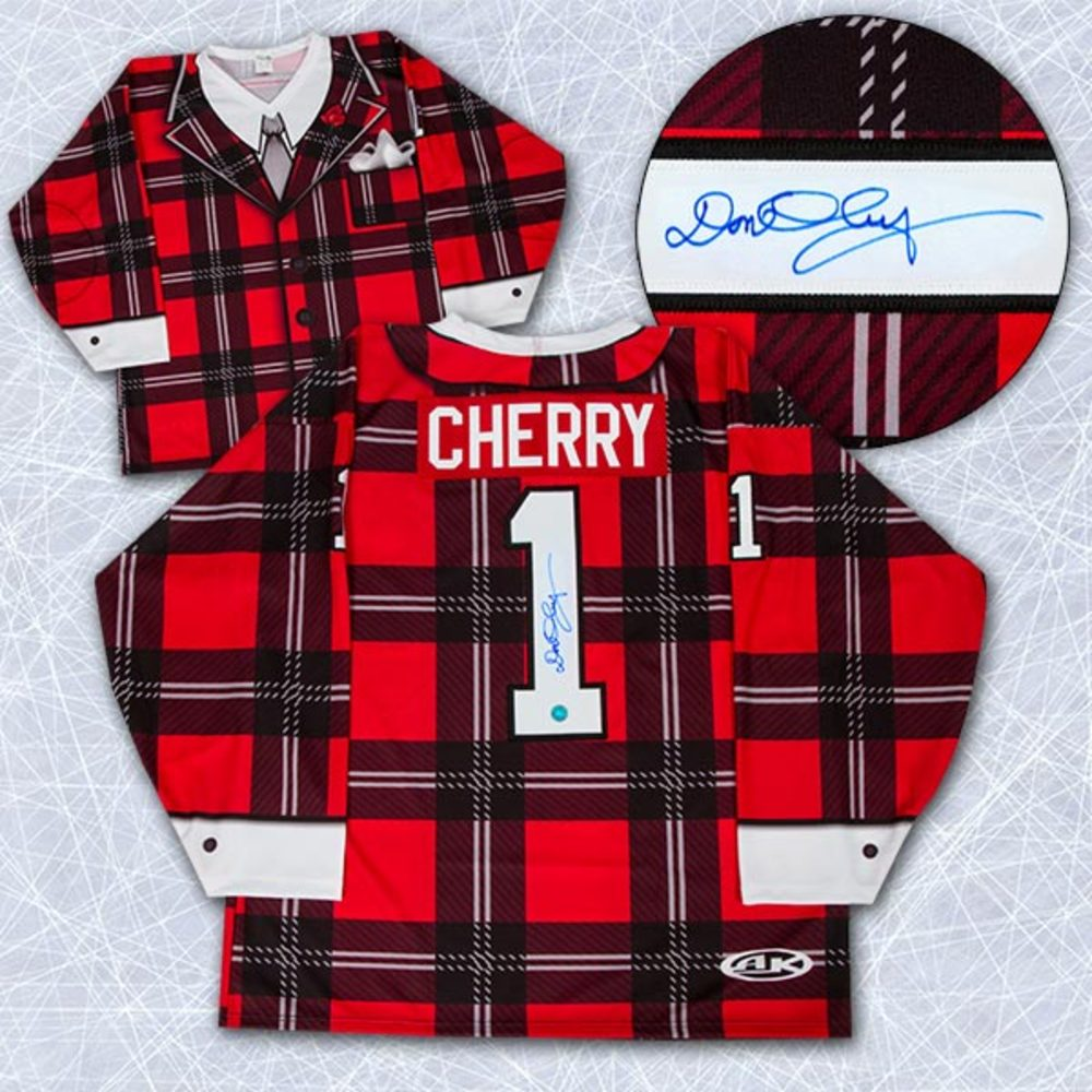 Don Cherry Autographed Coach's Corner Plaid Suit Style Custom Hockey Jersey