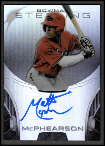 Photo of 2013 Bowman Sterling Prospect Autographs Refractors #MM Matt McPhearson