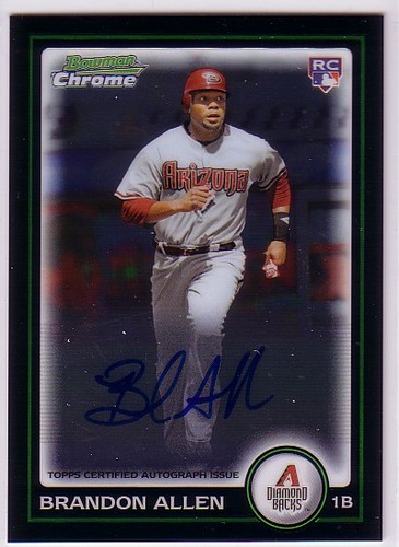 Photo of 2010 Bowman Chrome #213A Brandon Allen AU