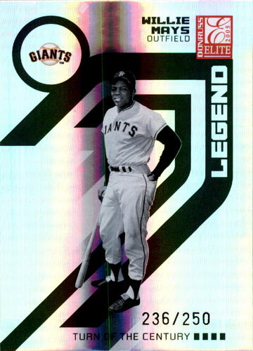 Photo of 2005 Donruss Elite Turn of the Century #169 Willie Mays RET