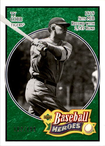 Photo of 2005 Upper Deck Baseball Heroes Emerald #199 Ty Cobb Tigers