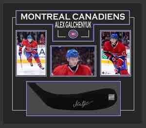 Alex Galchenyuk - Signed & Framed Stick Blade - Featuring Montreal Canadien Photo Collection