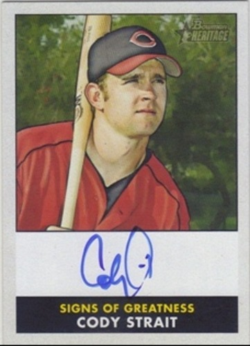Photo of 2007 Bowman Heritage Signs of Greatness #WCS Cody Strait G