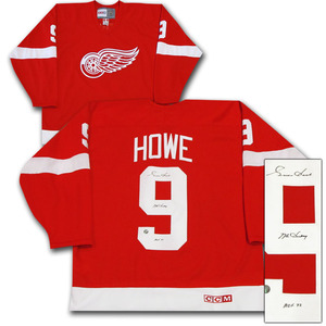 Gordie Howe Autographed Detroit Red Wings Jersey w/MR HOCKEY Inscription