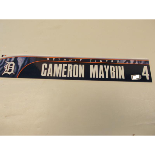 Photo of Game-Used Cameron Maybin Locker Name Plate