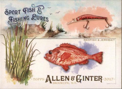 Photo of 2017 Topps Allen and Ginter Sport Fish and Fishing Lures #SFL10 Redfish