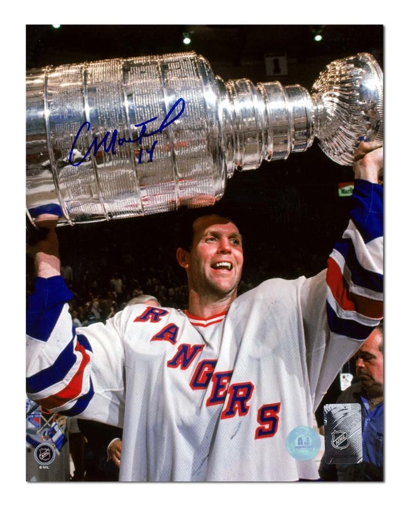 Craig MacTavish New York Rangers Autographed 1994 Stanley Cup 8x10 Photo