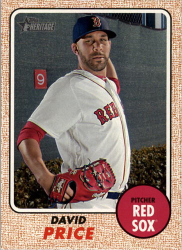 Photo of 2017 Topps Heritage #480A David Price  -- Red Sox post-season