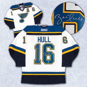 Brett Hull St. Louis Blues Autographed Retro CCM White Jersey
