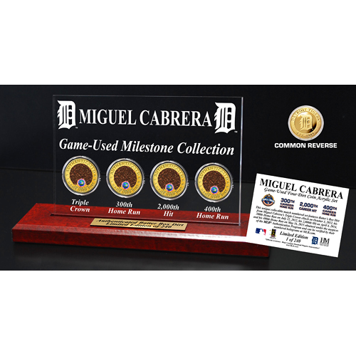 Detroit Tigers Miguel Cabrera Historic Dirt Collection II