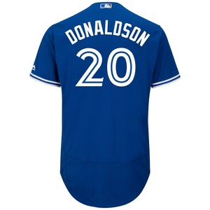 Men's Authentic Flex Base Josh Donaldson Alternate Jersey by Majestic