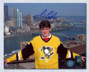 Mario Lemieux Pittsburgh Penguins Autographed Draft Day 8x10 Photo