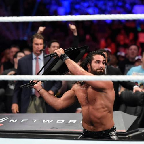 Rollins Chair: Seth Rollins USED & SIGNED Steel Chair (Battleground