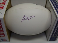 PATRIOTS - DOMINIQUE EASLEY SIGNED PANEL BALL W/ PATRIOTS LOGO