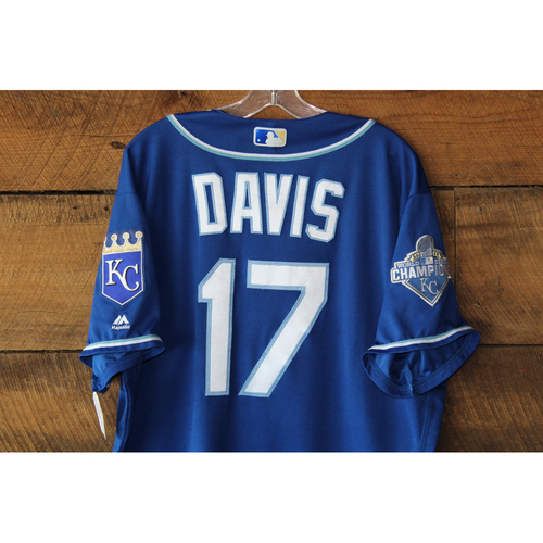 Photo of Wade Davis Game-Used Jersey: KC at DET - Sep 24, 2016 (Davis winning pitcher)