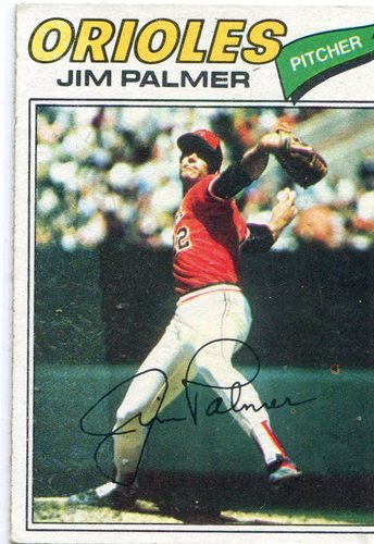 Photo of 1977 Topps #600 Jim Palmer -- Hall of Famer