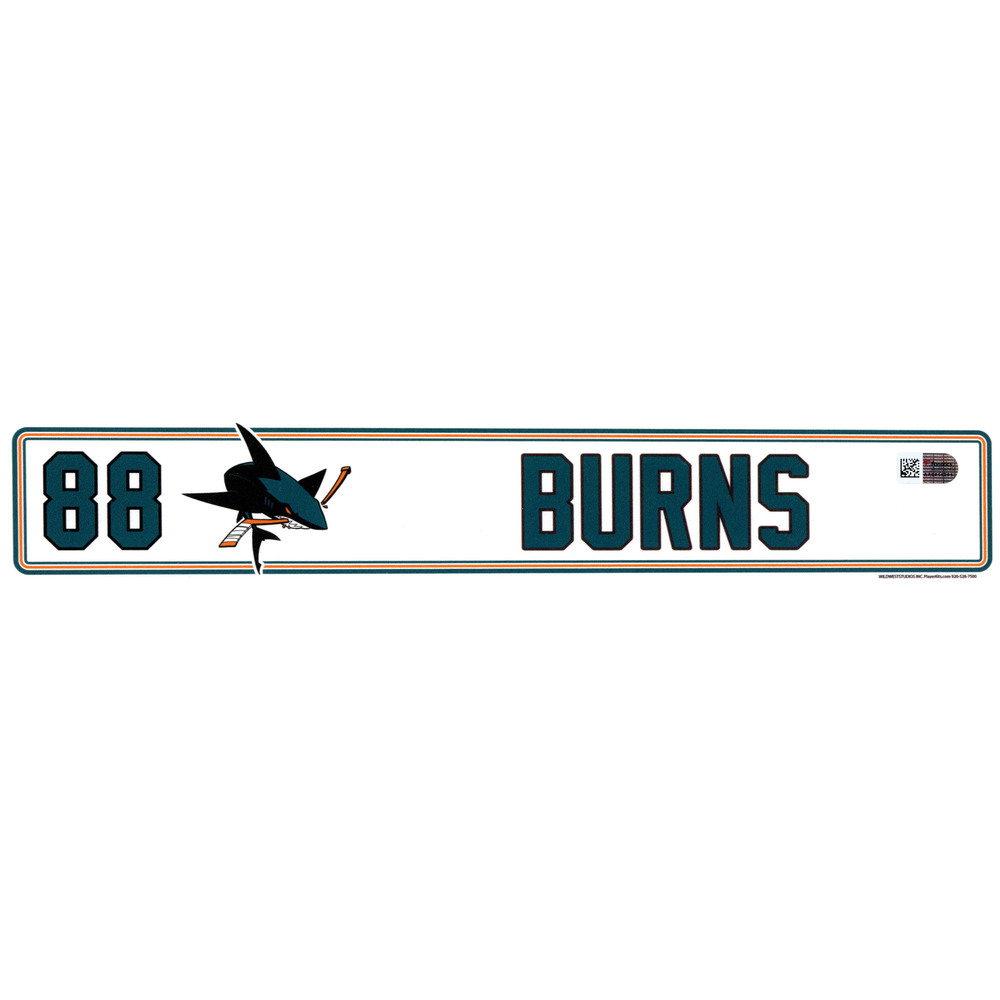 Brent Burns San Jose Sharks Player-Issued #88 Locker Room Nameplate from the 2016-17 NHL Season