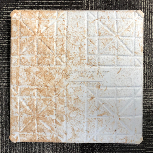 Photo of San Francisco Giants - HOLIDAY STEALS - 2016 Game-Used Base - Colorado Rockies at San Francisco Giants - September 29, 2016 - 1st Base from Innings 1-3 - Top 1st - Blackmon Single, Arenado Double, Dahl Triple
