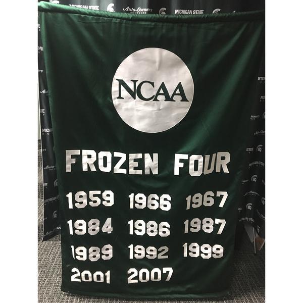 Authentic Michigan State Hockey Frozen Four Banner